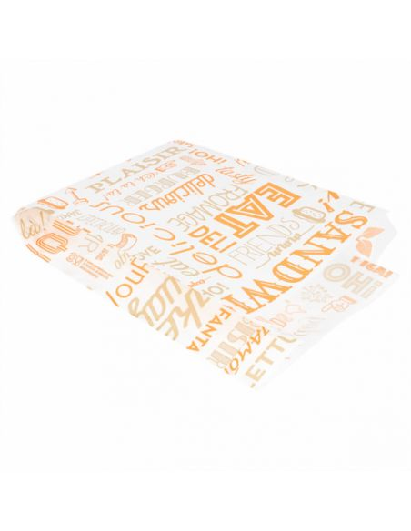 SACHET HAMBURGER PAROLE ORANGE 12 x 7 x 18