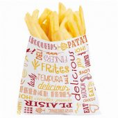 SACHET FRITES PAROLE- ORANGE - 12*12 - 1000 PIECES