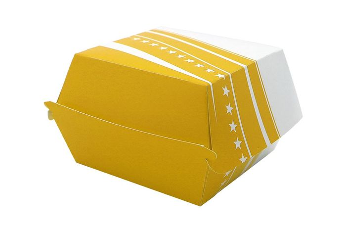 BOX BURGER FOSTER CARTON 502 - 89*89*35 - 500 PIECES - JAUNE