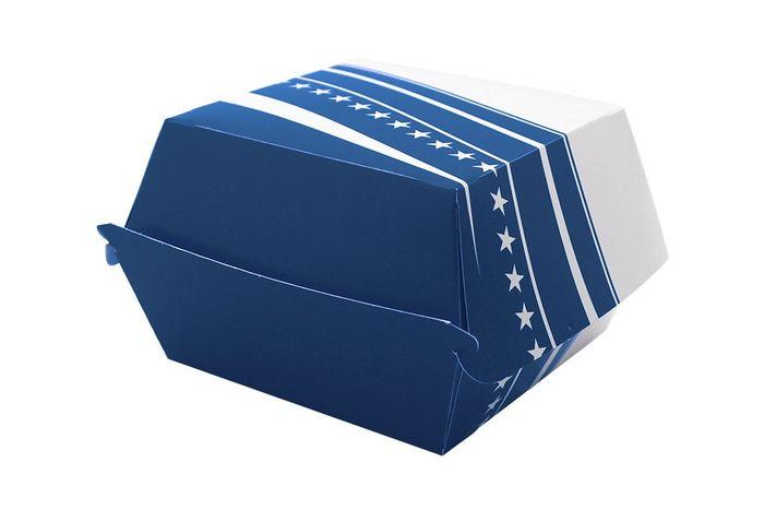 BOX BURGER FOSTER CARTON 503 - 89*89*35 - 500 PIECES - BLEU