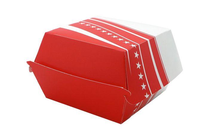 BOX BURGER FOSTER CARTON 504 - 89*89*35 - 500 PIECES - ROUGE