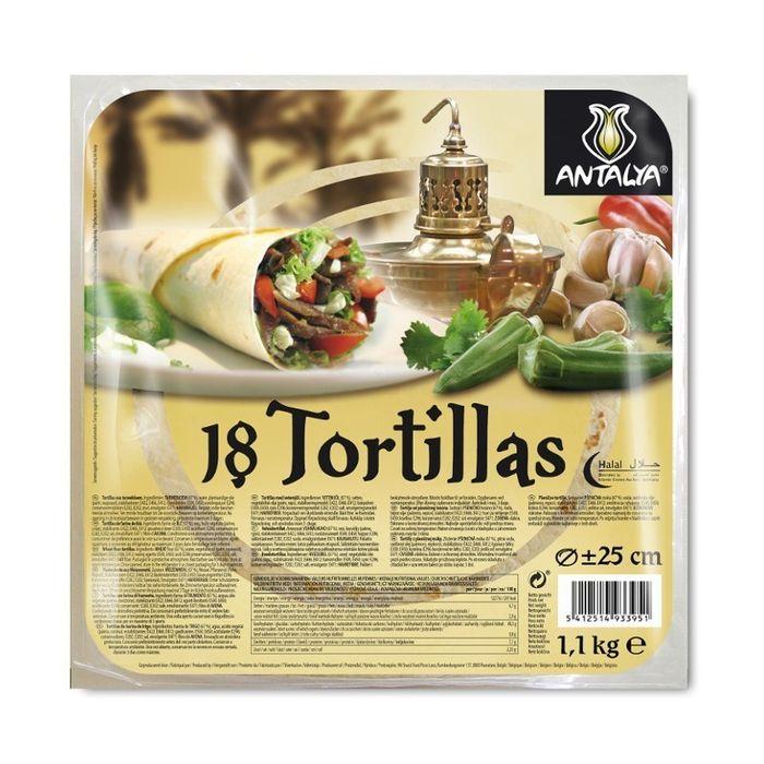 TORTILLAS ANTALYA 18 PIECES 90gr